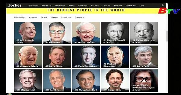 Bezos, Buffett và Gates dẫn đầu danh sách những tỷ phú giàu nhất thế giới