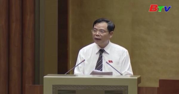 Quốc hội nghe trình báo cáo thẩm tra Dự án Luật Thủy sản (Sửa đổi)