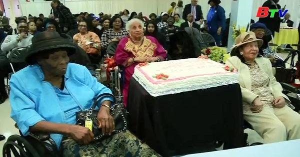 3 cụ bà ở viện dưỡng lão Brooklyn mừng tuổi đời trên 1 thế kỷ