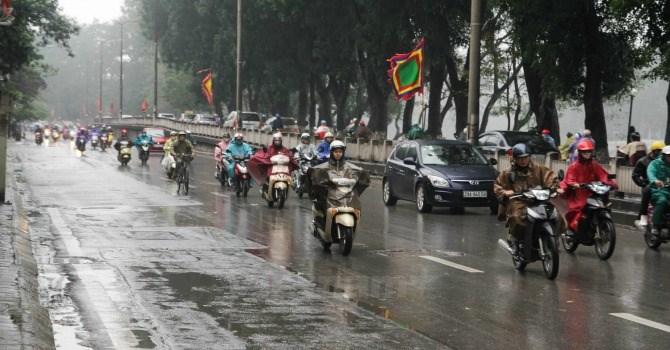 Một số khu vực có mưa dông cục bộ