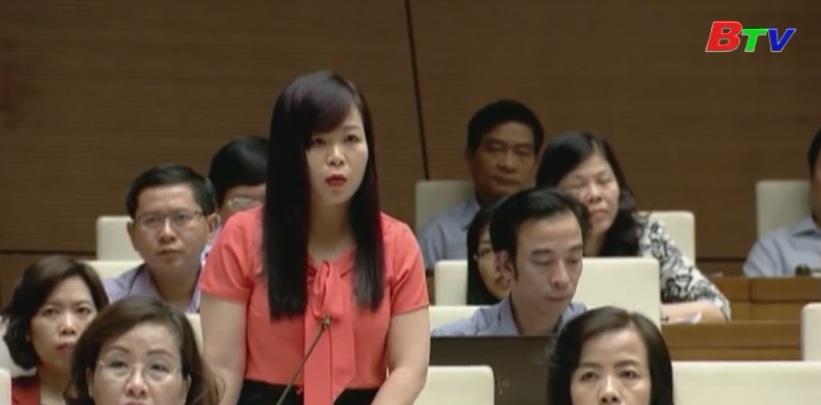 Quốc hội thảo luận vẻ dự thảo nghị quyết nợ xấu của các tổ chức tín dụng