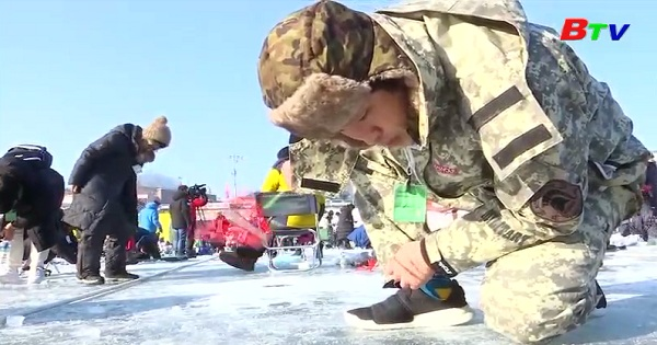 Lễ hội câu cá trên băng ở Hàn Quốc