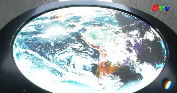 Chiêm ngưỡng tác phẩm nghệ thuật sắp đặt trái đất nhìn từ không gian