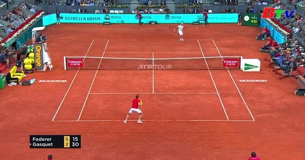 Federer vào vòng 3 Giải quần vợt Madrid Masters 2019