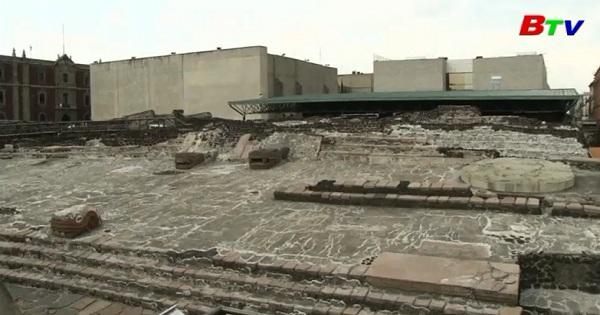 Phát hiện dấu tích đền thờ và sân bóng Aztec cổ đại tại thủ đô Mexico