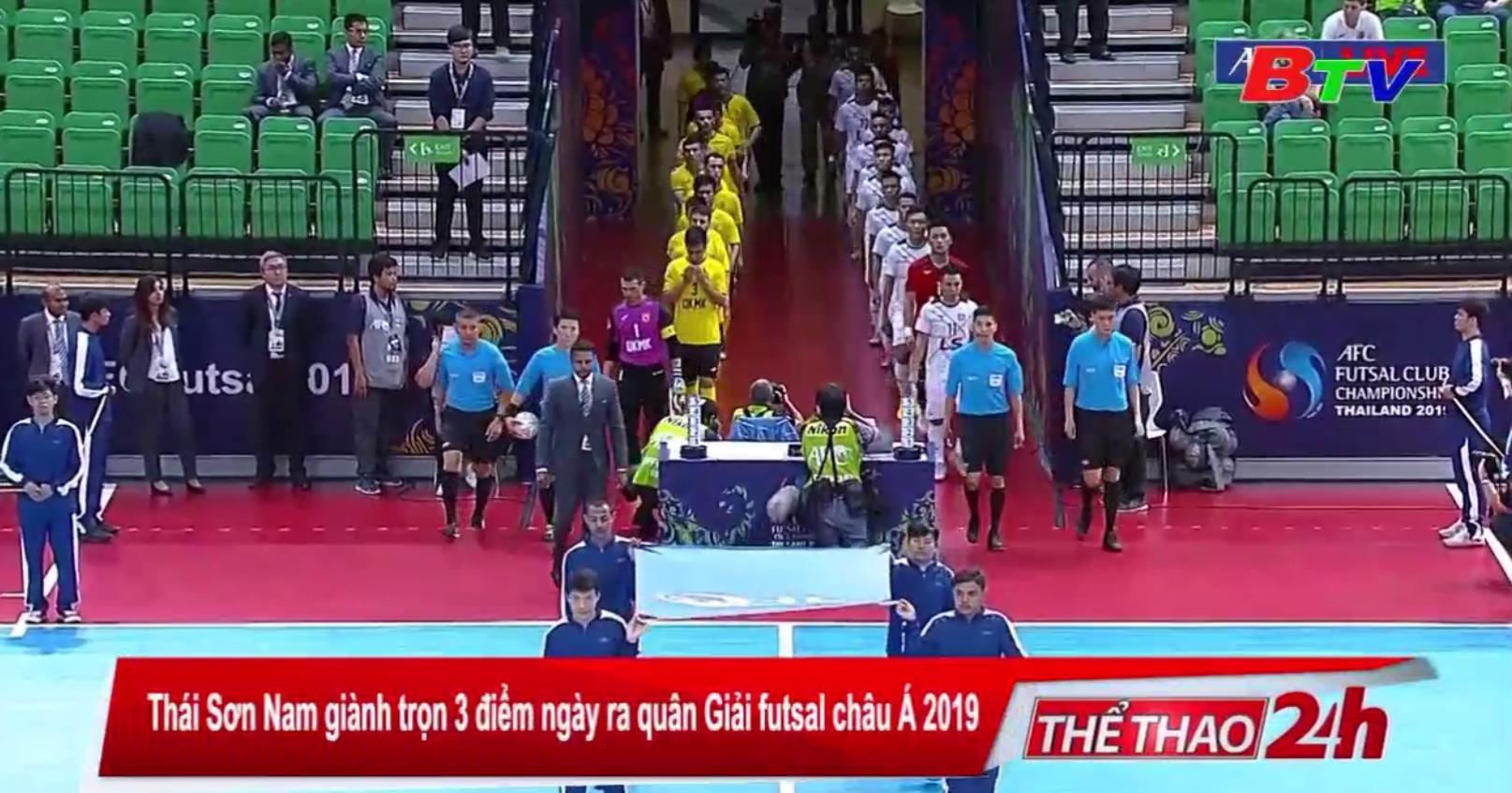 Thái Sơn Nam giành trọn 3 điểm ngày ra quân Giải futsal châu Á 2019