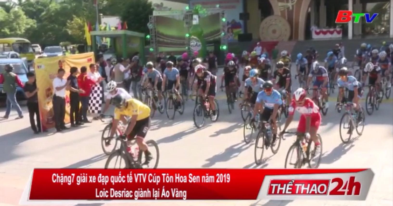 Chặng 7 Giải xe đạp Quốc tế VTV Cúp Tôn Hoa Sen 2019 - Loic Desrirac giành lại áo vàng