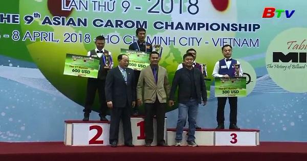 Kết thúc Giải Billiadrs corom vô địch Châu Á lần thứ 9 - 2018