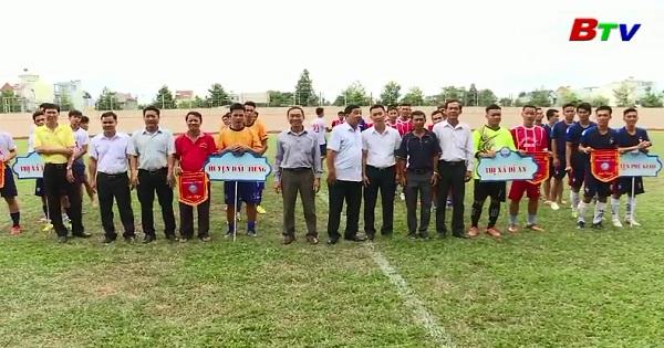 Khai mạc môn bóng đá Đại hội TDTT tỉnh Bình Dương lần thứ V năm 2018