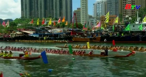 Rực rỡ lễ hội đua thuyền rồng Hồng Kông Trung Quốc