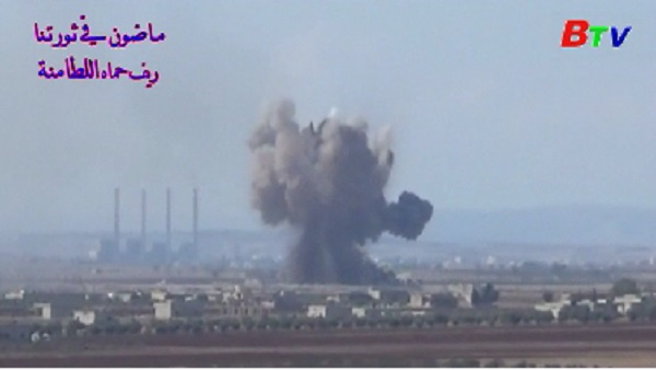 Nga tố cáo máy bay Mỹ ném bom hóa học xuống thị trấn Syria