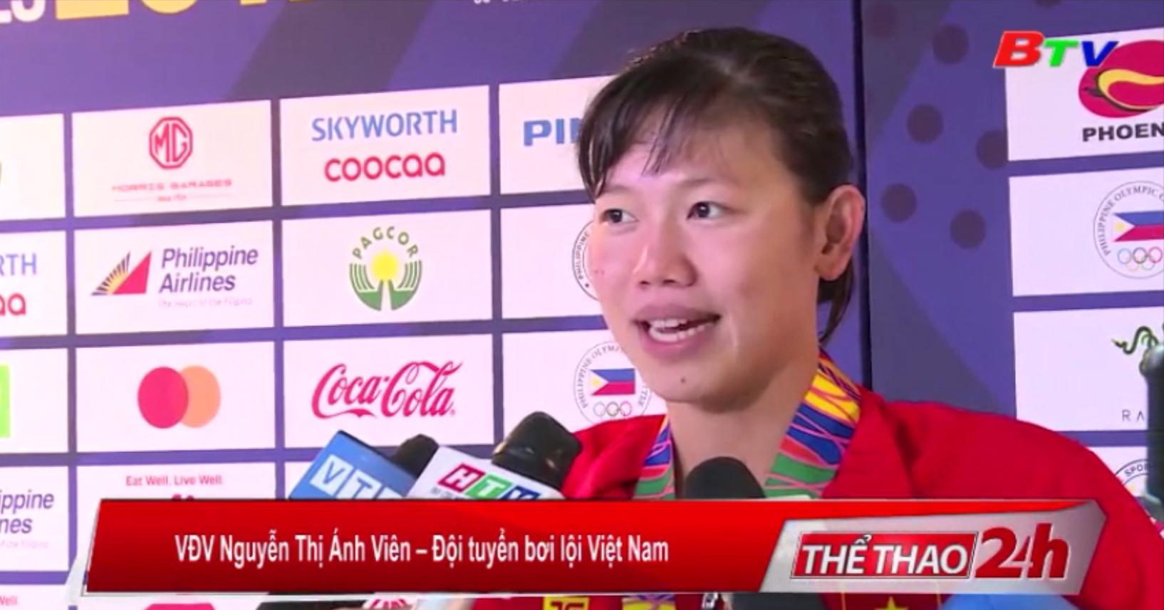 Ánh Viên và đội tuyển bơi Việt Nam hoàn thành xuất sắc nhiệm vụ tại SEA Games 30