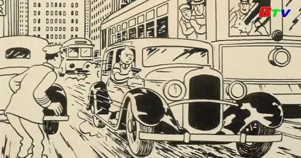 """Phiên bản cuốn truyện tranh """" Tintin in America"""" được bán đấu giá tại Paris"""
