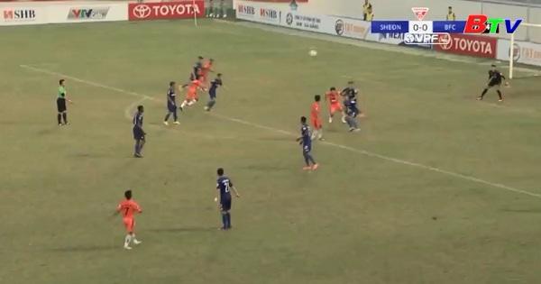 Vòng 12 Toyota V.League 2017- Anh Đức ghi bàn gỡ lại 1 điểm cho B.Bình Dương