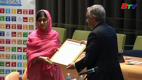 Malala Yousafzai trở thành Đại sứ hòa bình của Liên hiệp quốc