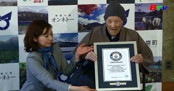 Cụ ông lập kỉ lục người lớn tuổi nhất thế giới ở Nhật