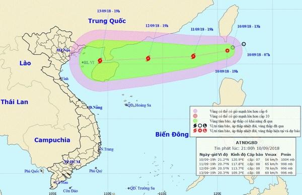 Áp thấp nhiệt đới đi vào Biển Đông, khả năng mạnh dần lên thành bão