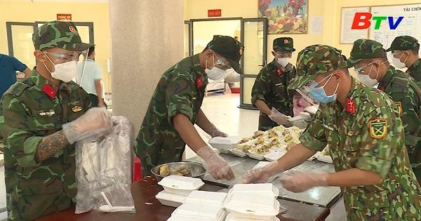 Ban Chỉ huy Quân sự Bến Cát tích cực tham gia phòng, chống dịch bệnh