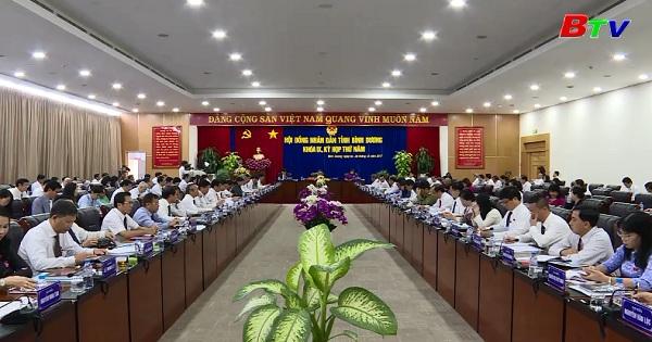 Kỳ họp thứ 5 HĐND tỉnh Bình Dương khóa IX