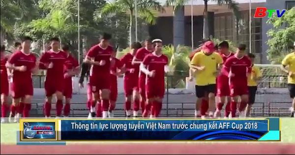 Thông tin lực lượng tuyển Việt Nam trước chung kết AFF Cup 2018