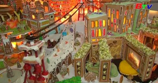 Mô hình thành phố bằng bánh gừng đón mùa giáng sinh ở Anh