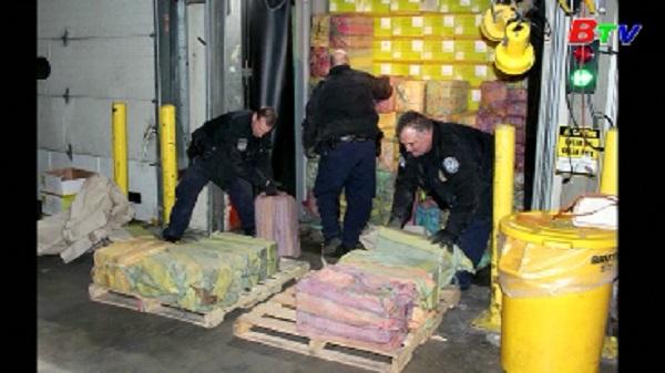 Mỹ thu giữ 1,5 tấn ma túy trị giá 77 triệu USD