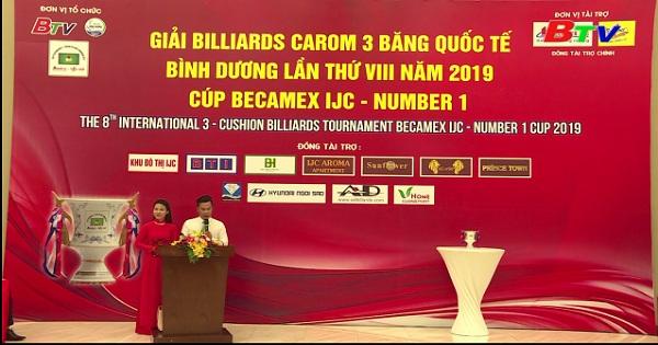 Giải Billiards Carom 3 băng quốc tế Bình Dương lần thứ VIII 2019 - Cup