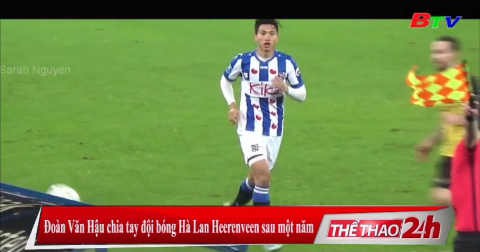 Đoàn Văn Hậu chia tay đội bóng Hà Lan Heerenveen sau một năm