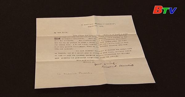 Trước phiên đấu giá bức thư Winston