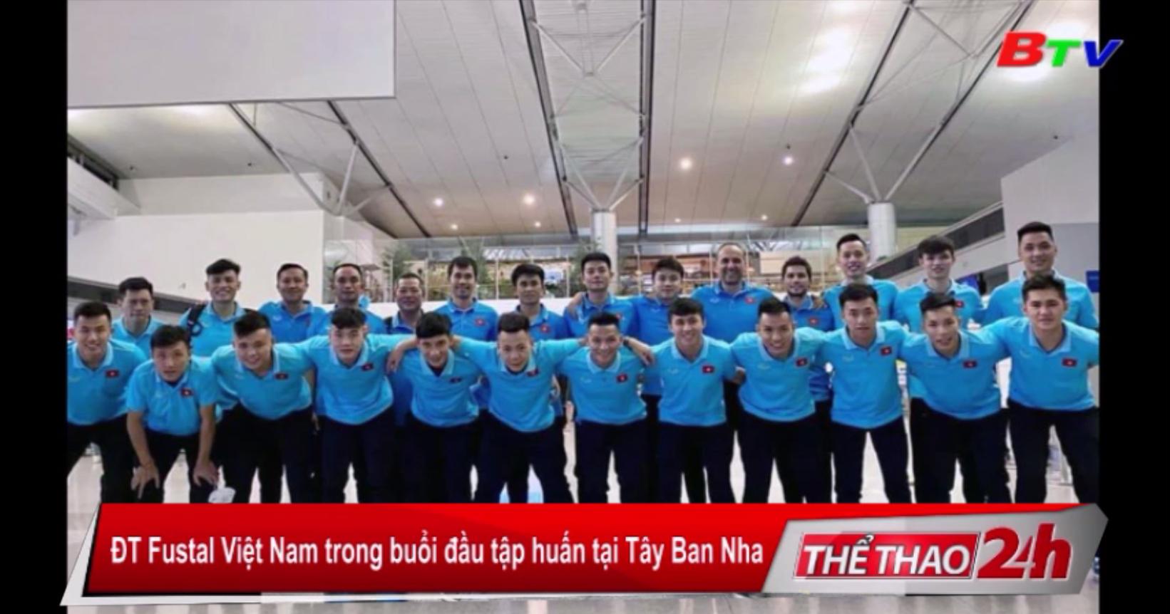 ĐT Futsal Việt Nam trong buổi đầu tập huấn tại Tây Ban Nha