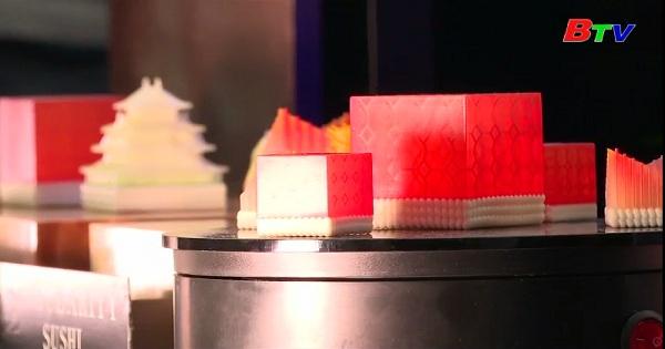 Làm Sushi bằng máy in 3D