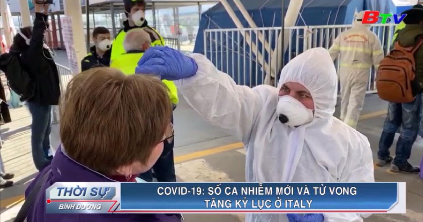 Covid-19 – Số ca nhiễm và tử vong tăng kỷ lục ở Italy