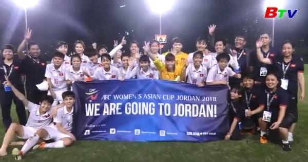 Tuyển nữ Việt Nam giành vé dự vòng chung kết Asian Cup 2018