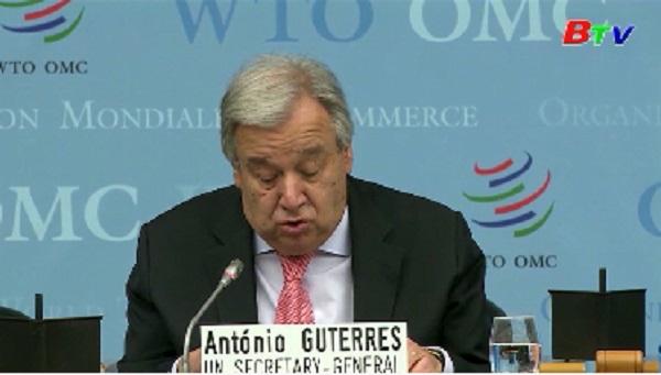Liên hợp quốc kêu gọi giải quyết căng thẳng thương mại thông qua WTO