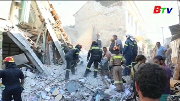 Ít nhất 1 người thiệt mạng sau vụ động đất ở Hy Lạp và Thổ Nhĩ Kỳ