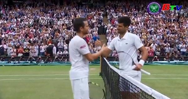 Novak Djokovic vào vòng tứ kết  giải quần vợt Wimbledon