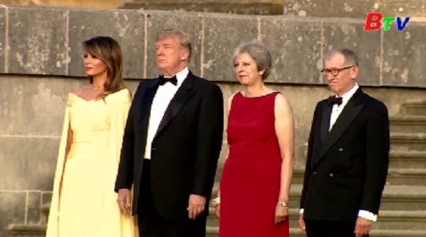 Tổng thống Mỹ Donald Trump bắt đầu chuyến thăm Anh