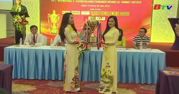 Họp báo Giải Billiards Carom 3 băng Quốc tế Bình Dương lần thứ VII/2018 - Cúp Becamex IJC - Number 1