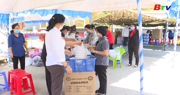 Hội Phụ nữ thành phố Thuận An chung tay đẩy lùi dịch bệnh Covid-19