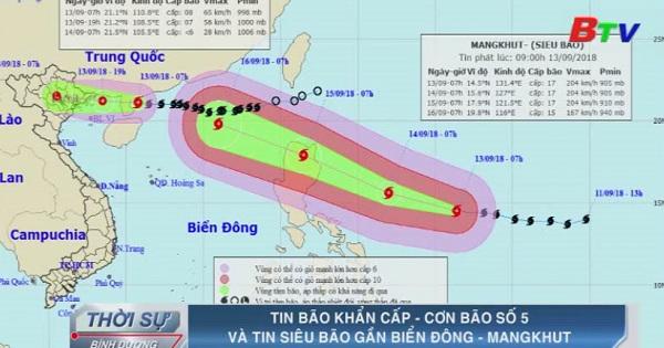Tin bão khẩn cấp - Cơn bão số 5 và tin siêu bão gần biển Đông - MangKhut