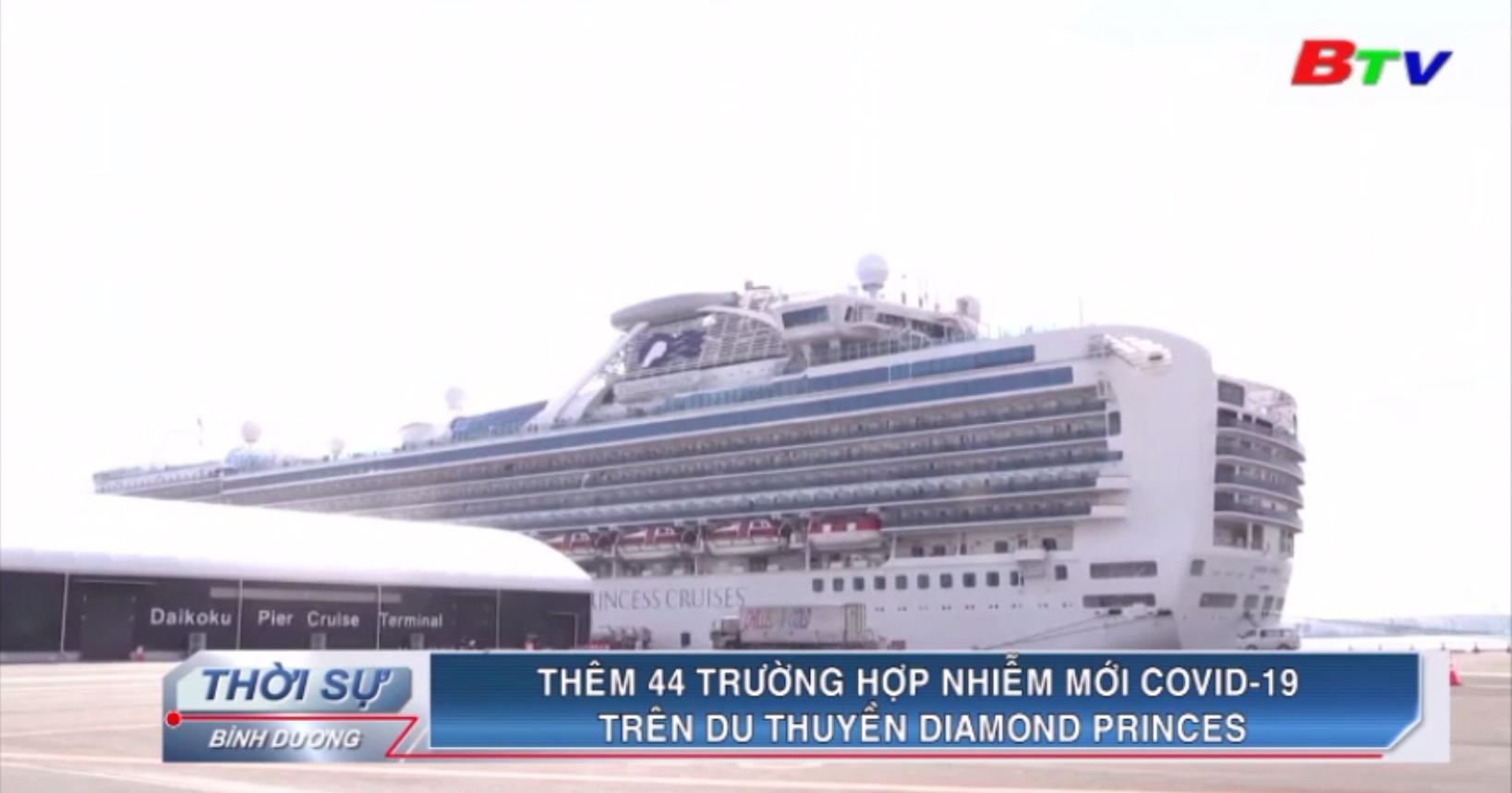 Thêm 44 trường hợp nhiễm mới Covid-19 trên du thuyền Diamond Princess