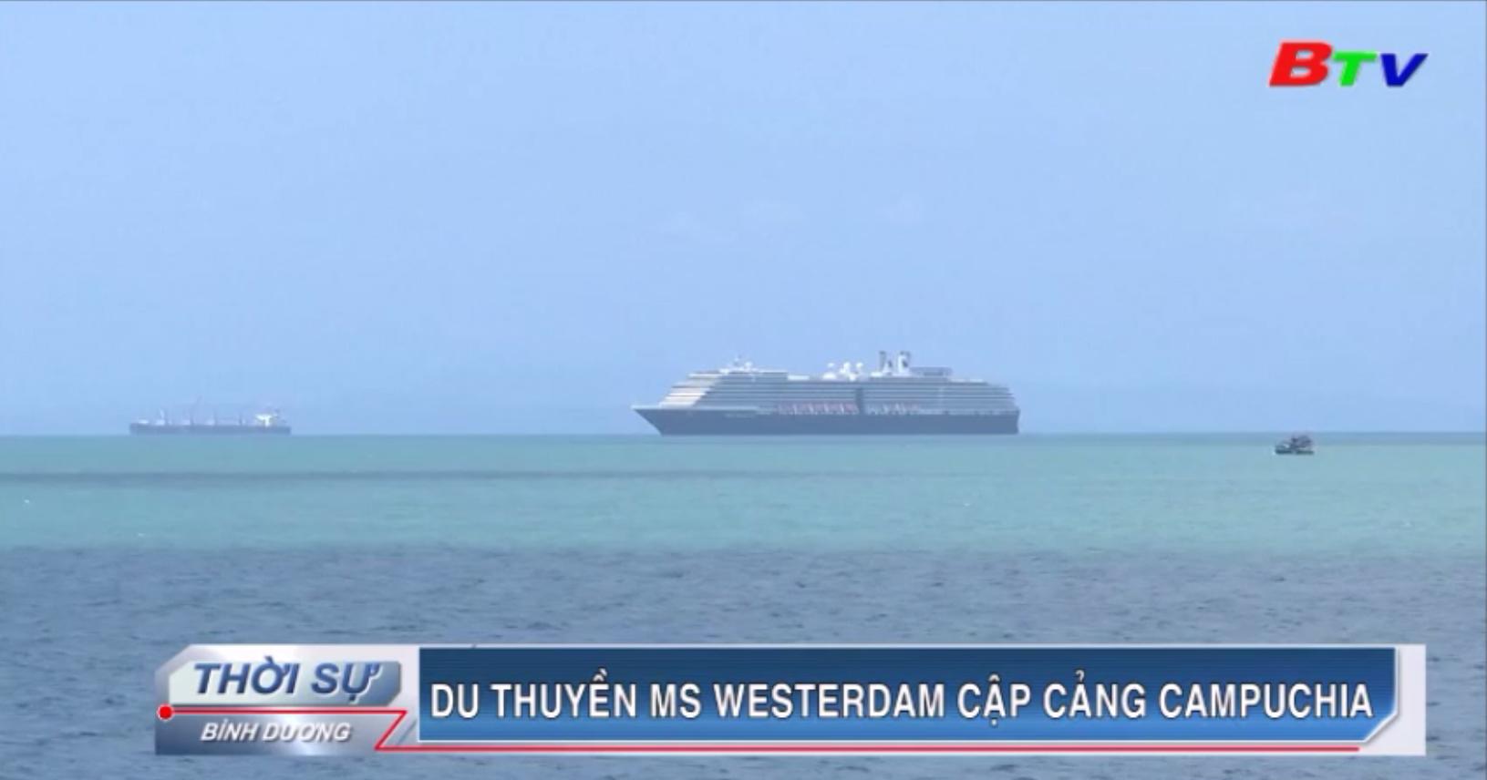 Du thuyền MS Westerdam cập cảng Campuchia