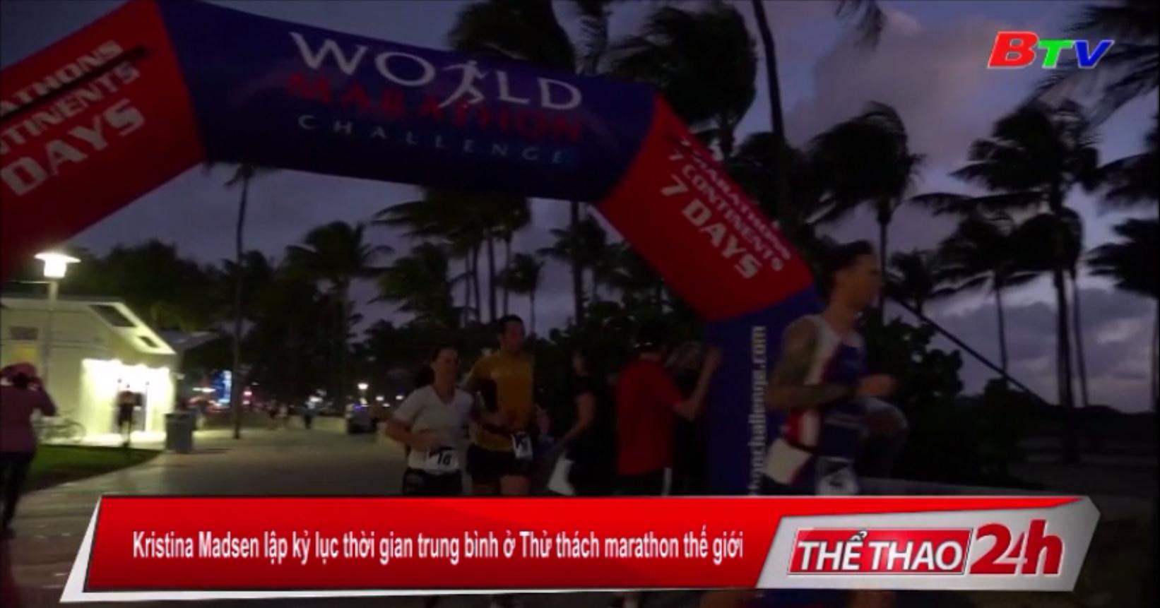 Kristina Madsen lập kỷ lục thời gian trung bình ở Thử thách Marathon thế giới