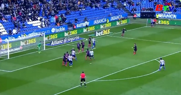 Vòng 27 La Liga - Deportivo 2-1 Barcelona