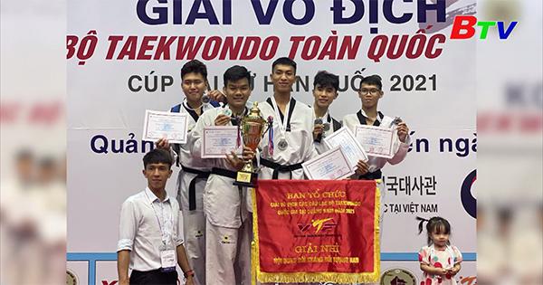 Giải vô địch các câu lạc bộ Taekwondo toàn quốc năm 2021 - Bình Dương đạt giải Nhì toàn đoàn nội dung nam