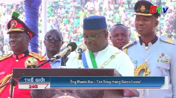 Tổng thống của Sierra Leone tuyên thệ nhậm chức