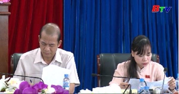 Ban VH-XH HĐND tỉnh làm việc với Sở y tế về tình hình thực hiện nghị quyết số 22