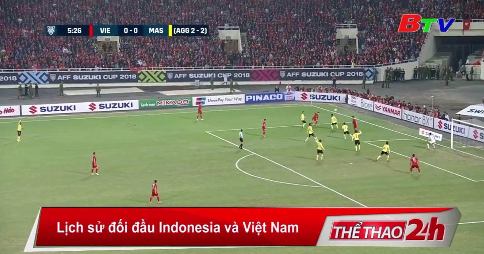 Lịch sử đối đầu giữa ĐT Indonesia và ĐT Việt Nam