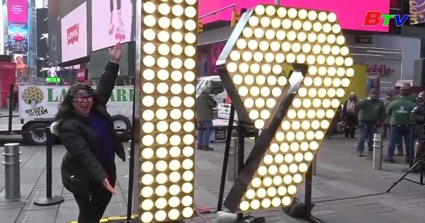 Times Square chuẩn bị chào đón năm mới 2019