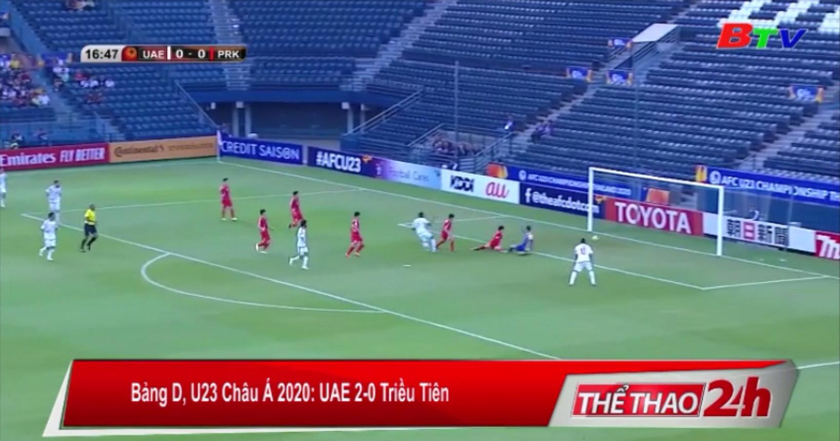 Bảng D VCK U23 châu Á 2020 – UAE 2-0 Triều Tiên